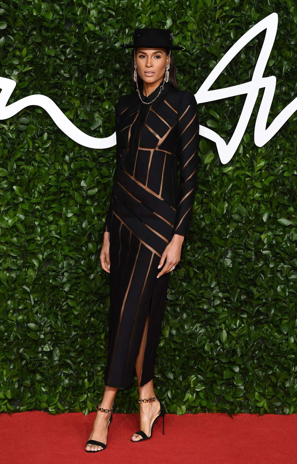 Cindy-Bruna-at-British-Fashion-Awards-2019-in-London