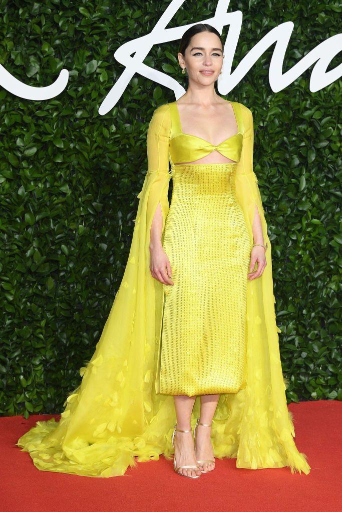emilia-clarke-arrives-at-the-fashion-awards-2019-held-at-news-photo-1575321423schiaparelli